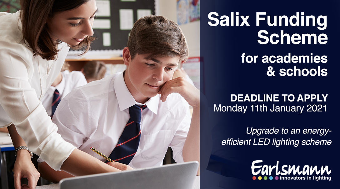 Monday 11th January 2021 is the deadline for the Salix Funding scheme for LED Lighting